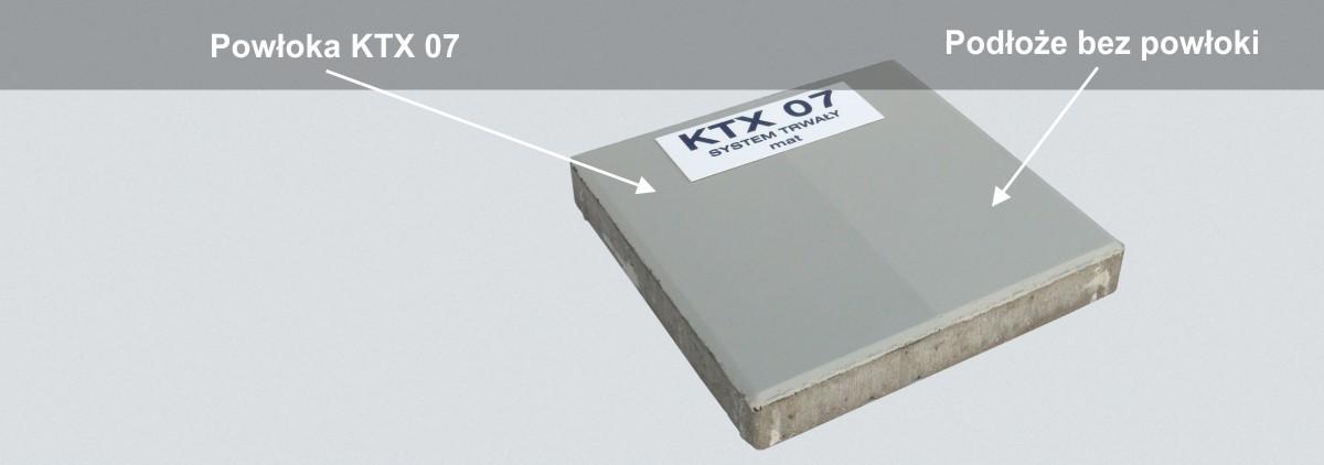 Powłoka KTX 07 na betonie malowanym