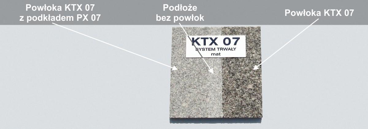 Powłoka KTX 07 na granicie
